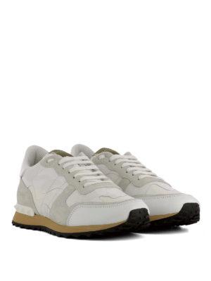 Valentino Garavani: trainers online - Rockrunner white camu sneakers