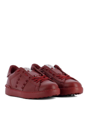 Valentino Garavani: trainers online - Rockstud Untitled red sneakers