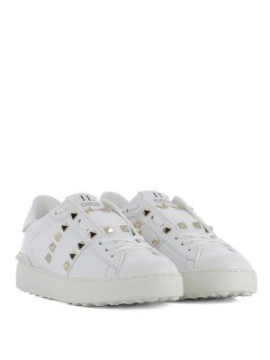 Valentino Garavani: trainers online - Rockstud Untitled white sneakers