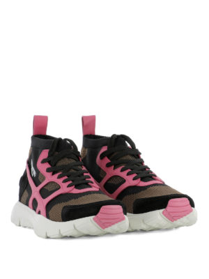 Valentino Garavani: trainers online - Sound High pink detail sneakers