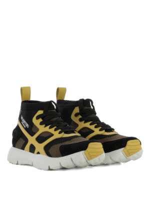 Valentino Garavani: trainers online - Sound High yellow detail sneakers