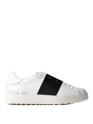 VALENTINO GARAVANI: sneakers - Sneaker Open con banda nera