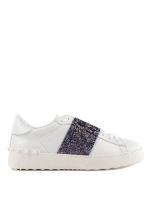 VALENTINO GARAVANI: sneakers - Sneaker Open in pelle con banda cangiante