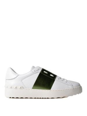 VALENTINO GARAVANI: sneakers - Sneaker Open con banda laminata