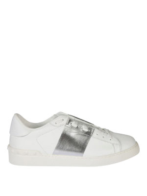 Valentino Garavani: trainers - Open leather low top sneakers