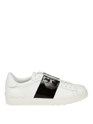 Valentino Garavani: trainers - Open white and black sneakers