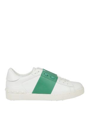 Valentino Garavani: trainers - Open white and green sneakers