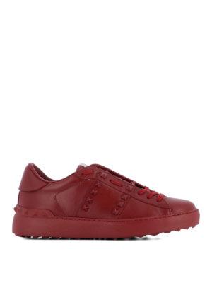 Valentino Garavani: trainers - Red Rockstud Untitled sneakers
