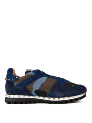 Valentino Garavani: trainers - Rockrunner camouflage suede shoes