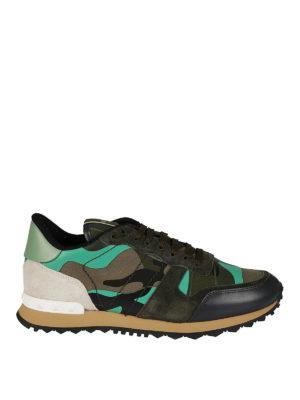 VALENTINO GARAVANI: sneakers - Sneaker Rockrunner camouflage