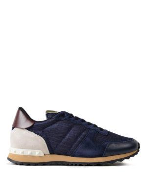 VALENTINO GARAVANI: sneakers - Sneaker blu scuro Rockrunner
