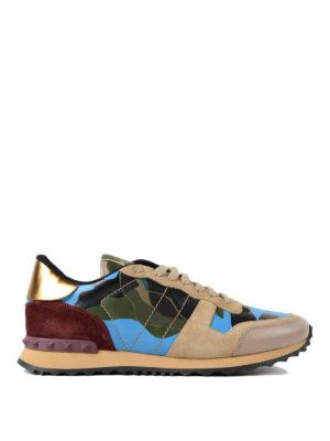 VALENTINO GARAVANI: sneakers - Sneaker multicolore Rockrunner