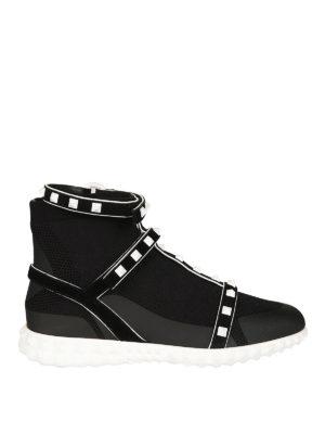 VALENTINO GARAVANI: sneakers - Sneaker Rockstud in maglia stretch