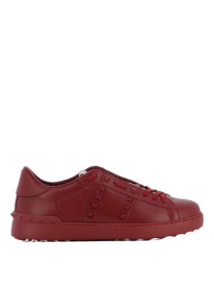 Valentino Garavani: trainers - Rockstud Untitled red sneakers