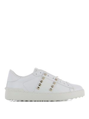 Valentino Garavani: trainers - Rockstud Untitled white sneakers