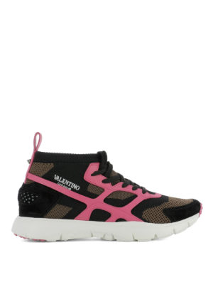 Valentino Garavani: trainers - Sound High pink detail sneakers