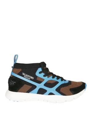 VALENTINO GARAVANI: sneakers - Sneaker Sound High dettagli azzurri