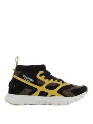 Valentino Garavani: trainers - Sound High yellow detail sneakers
