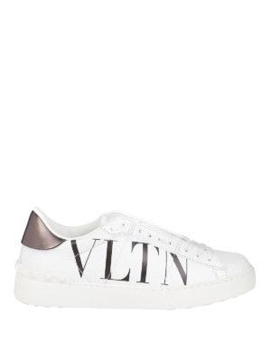 VALENTINO GARAVANI: sneakers - Sneaker stringate con stampa VLTN