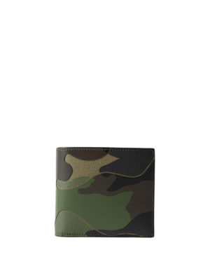 VALENTINO GARAVANI: portafogli - Portafoglio camouflage verde