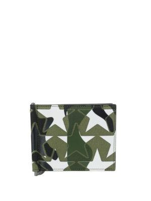 Valentino Garavani: wallets & purses - Camu star print money clip