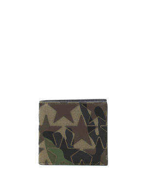 Valentino Garavani: wallets & purses - Camustars nappa and fabric wallet