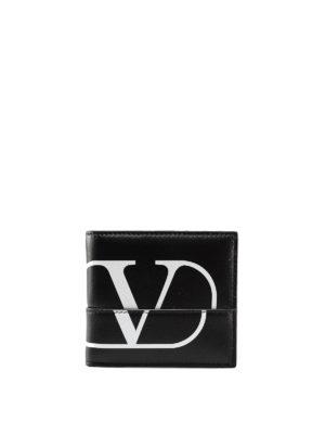 e7d51d0ddd VALENTINO GARAVANI: portafogli - Portafoglio in pelle con logo