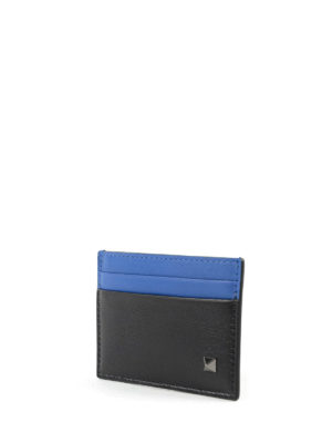 Valentino Garavani: wallets & purses online - 3D STUDS BI-COLOUR CARD HOLDER