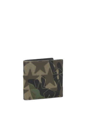 Valentino Garavani: wallets & purses online - Camustars nappa and fabric wallet