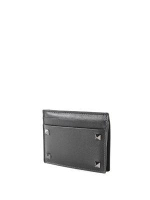 Valentino Garavani: wallets & purses online - Rockstud calf leather cardcase