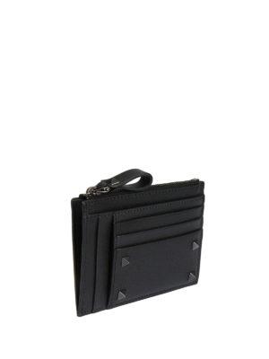 Valentino Garavani: wallets & purses online - Rockstud embellished leather wallet
