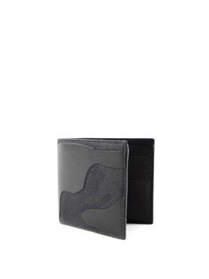 Valentino Garavani: wallets & purses online - Rockstud leather and canvas wallet