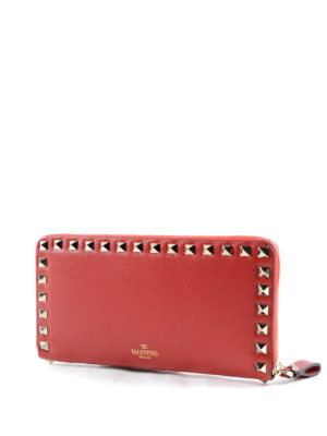 Valentino Garavani: wallets & purses online - Rockstud leather wallet