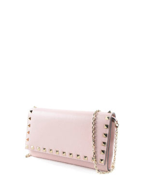 Valentino Garavani: wallets & purses online - Rockstud wallet with chain
