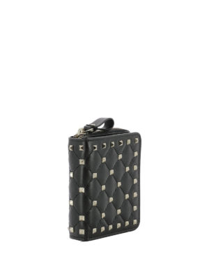 Valentino Garavani: wallets & purses online - Rockstud zip around compact wallet