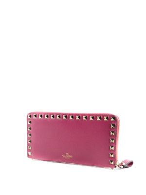Valentino Garavani: wallets & purses online - Rockstud zip-around leather wallet