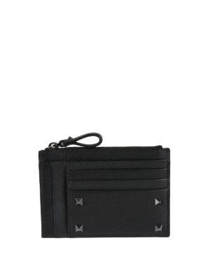Valentino Garavani: wallets & purses - Rockstud embellished leather wallet