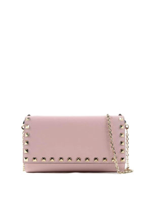 Valentino Garavani: wallets & purses - Rockstud wallet with chain