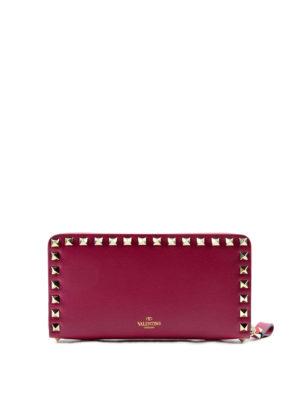 Valentino Garavani: wallets & purses - Rockstud zip-around leather wallet