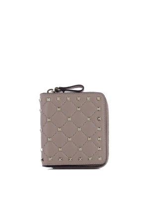 VALENTINO GARAVANI: portafogli - Portafoglio con borchie in pelle