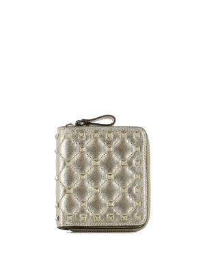 VALENTINO GARAVANI: portafogli - Portafoglio in pelle con borchie