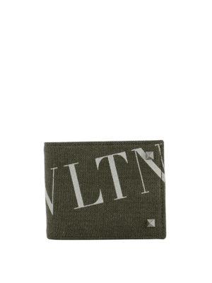 VALENTINO GARAVANI: portafogli - Portafoglio in tessuto VLTN