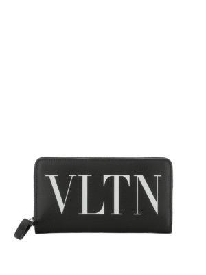 VALENTINO GARAVANI: portafogli - Portafoglio in pelle con stampa VLTN