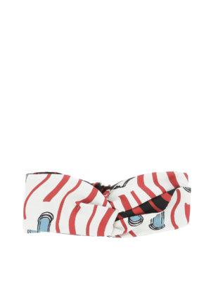 VALENTINO: accessori per capelli - Fascia per capelli Lipstick in seta