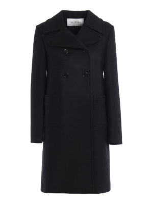 Valentino: knee length coats - Merino and angora wool formal coat