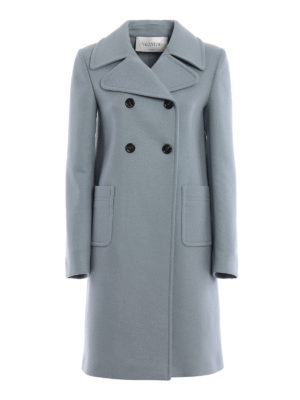Valentino: knee length coats - Merino and angora wool formal coat