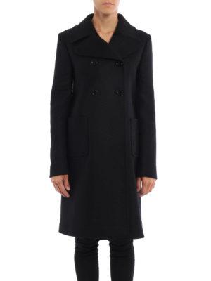 Valentino: knee length coats online - Merino and angora wool formal coat