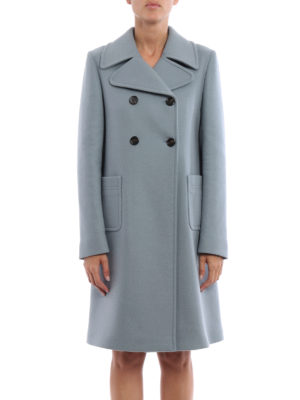 Valentino: knee length coats online - Merino and angora wool formal coat