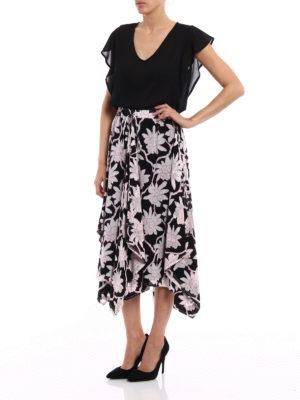 Valentino: Knee length skirts & Midi online - Crepe de chine flounced skirt