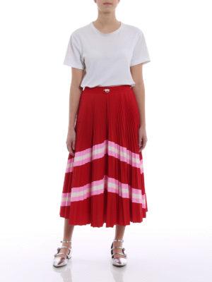 Valentino: Knee length skirts & Midi online - Pleated circle midi skirt